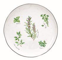 Porcelán lapostányér 26cm,Herbarium