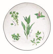 Porcelán desszerttányér 21cm,Herbarium