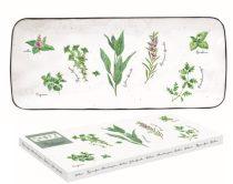 Porcelántálca 36x15,5cm,dobozban,Herbarium