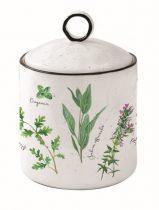 Porcelán konyhai tároló 10,5x15,5cm,Herbarium