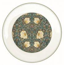 Porcelán lapostányér 26,5cm, William Morris, Black