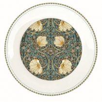 Porcelán desszerttányér 19cm, William Morris, Black
