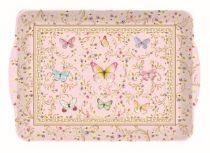 Műanyag tálca 46x32cm,Majestic Butterflies