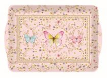 Műanyag tálca  33x22cm,Majestic Butterflies