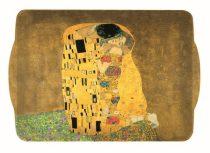 Műanyag tálca 46x32cm,Klimt:The Kiss
