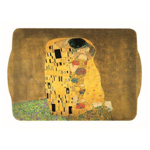 Műanyag tálca 22x15cm,Klimt:The Kiss