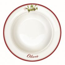 Porcelán mélytányér 21,5cm, Olives