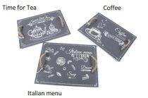 Palatálca kötélfüllel 40x30cm, Tea/Coffee/Italian Menu