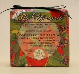 N.D.Gli Officinali,fruit of the strawberry bush and sage szappan 200g