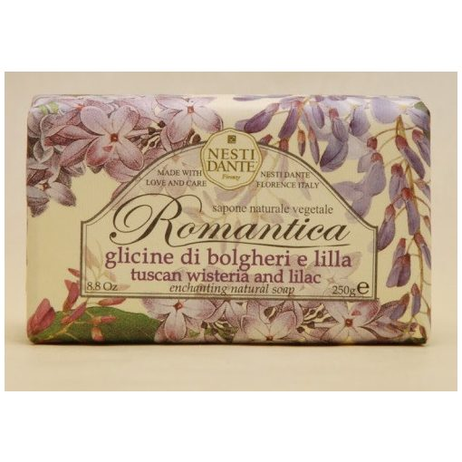 Romantica,tuscan wisteria and lilac szappan 250g