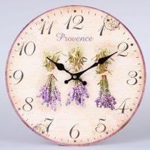 Óra Provence levendulacsokros 34cm, fa