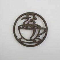 Öntöttvas edényalátét csészés,18cm