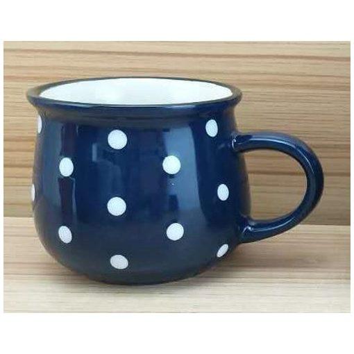 Kerámiabögre pöttyös 230ml,kék
