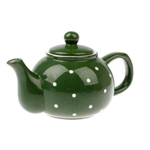 Kerámia teáskanna pöttyös, 1000ml, Zöld