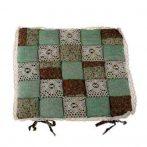DAK.DKPOL1819 Székpárna 40x40cm, zöld barna kockás, polyester