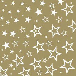 AMB.33304396 Starry Sky gold papírszalvéta 33x33cm,20db-os