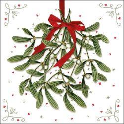 Mistletoe papírszalvéta 33x33cm,20db-os