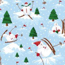 Skiing Snowmen papírszalvéta 33x33cm,20db-os