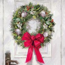 White Wreath papírszalvéta 33x33cm,20db-os
