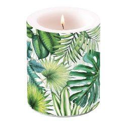 Tropical  Leaves átvilágítós gyertya 12x10cm
