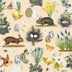 AMB.23311710 Easter Time cream papírszalvéta 33x33cm,20db-os