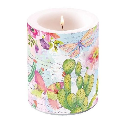 Roses & Cacti átvilágítós gyertya 12x10cm