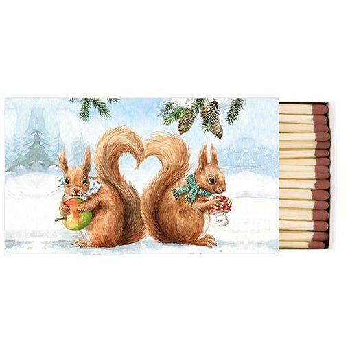 Squirrel Love gyufa, 6,5x11cm