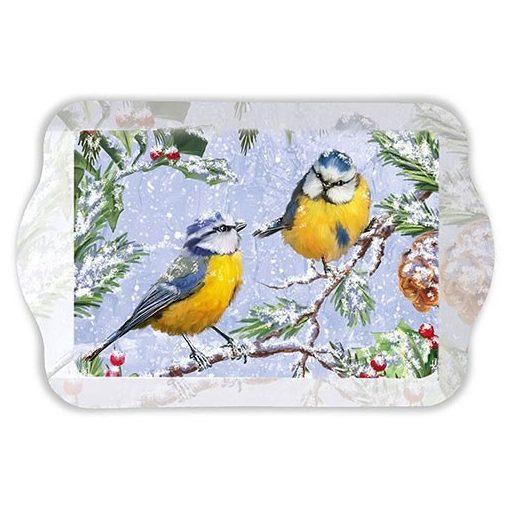 Chirping Birds műanyag tálca 15x23cm