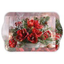 Amaryllis Bouquet műanyag kistálca 13x21cm