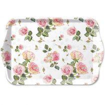 Rosie white műanyag kistálca 13x21cm