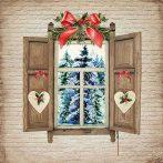 AMB.33313485 Window View papírszalvéta 33x33cm,20db-os