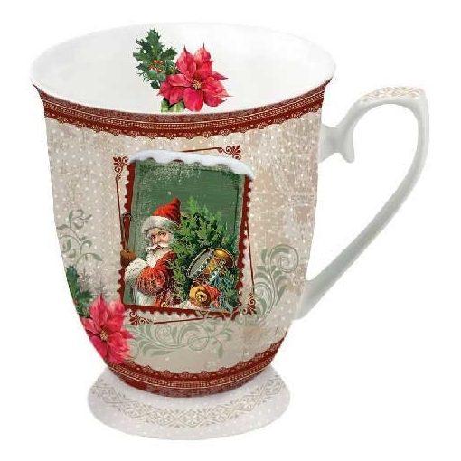 Santa Stamp porcelánbögre 0,25l