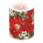 AMB.39113570 Poinsettia All Over átvilágítós gyertya 12x10cm
