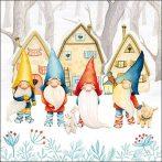 AMB.33313880 Gnomes papírszalvéta 33x33cm,20db-os
