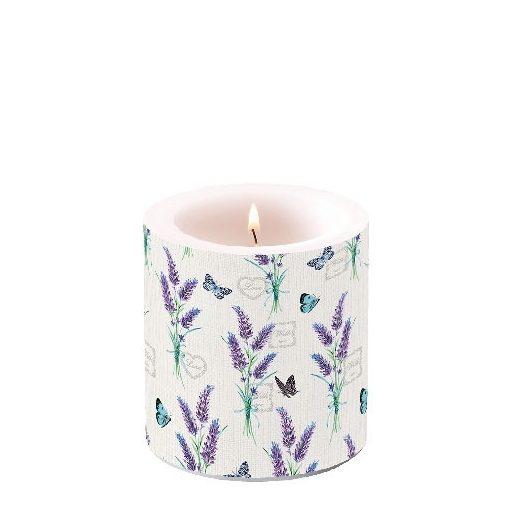 Lavender With Love Cream átvilágítós gyertya 8x7,5cm