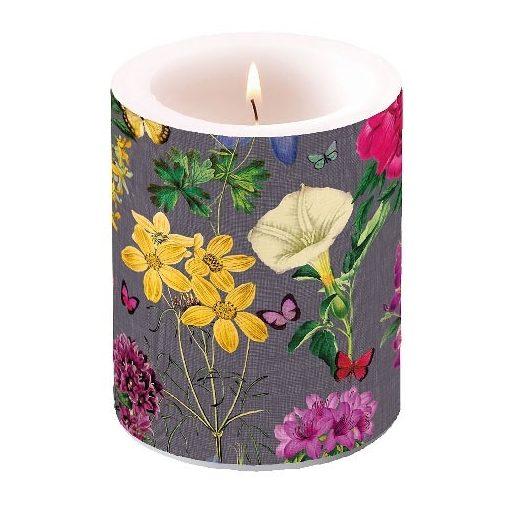 Botanical Florals Grey átvilágítós gyertya 12x10cm