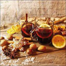 Glühwein papírszalvéta 33x33cm, 20db-os