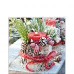 AMB.32514675 Frozen Candle papírszalvéta 25x25cm, 20db-os