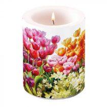 Tulips átvilágítós gyertya 12x10cm