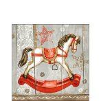 Rocking Horse papírszalvéta 25x25cm, 20db-os