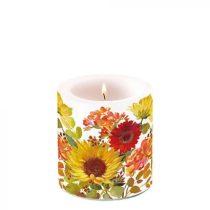 Sunny Flowers Cream átvilágítós gyertya 8x7,5cm