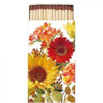 Sunny Flowers Cream gyufa 6,5x11cm
