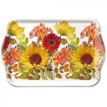 Sunny Flowers Cream műanyag kistálca 13x21cm