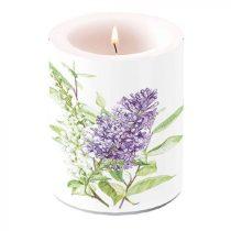 Lilac White átvilágítós gyertya 12x10cm