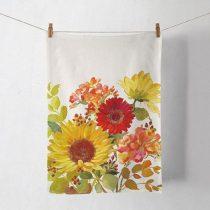 Sunny Flowers Cream konyharuha 50x70cm, 100% pamut