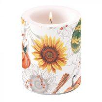 Pumpkins & Sunflowers átvilágítós gyertya 12x10cm