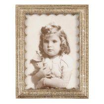 CLEEF.2854 Képkeret 17x22cm/13x18cm,díszes,antikolt ezüst, műanyag