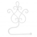 CLEEF.W40185W Fali WCpapír-tartó,fém 17x7x22cm,fehér