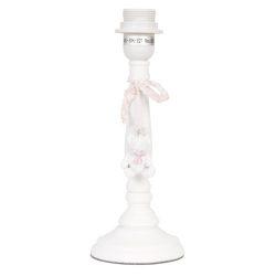 Fa lámpatest fehér, macival, 11x29cm