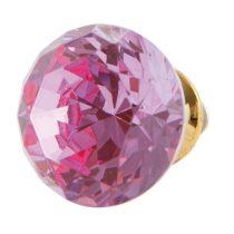 CLEEF.63097 Ajtófogantyú 3cm üveg, rózsaszín